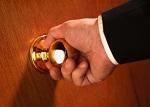hand on door knob